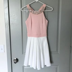 NWOT! Pink/white cocktail dress